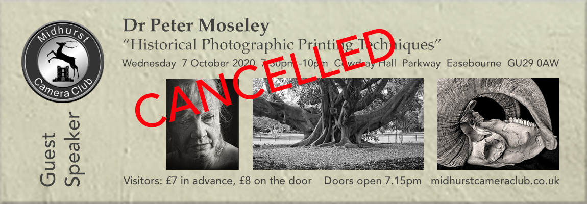 """Dr Peter Moseley: """"Historical Photographic Printing Techniques""""-new date"""