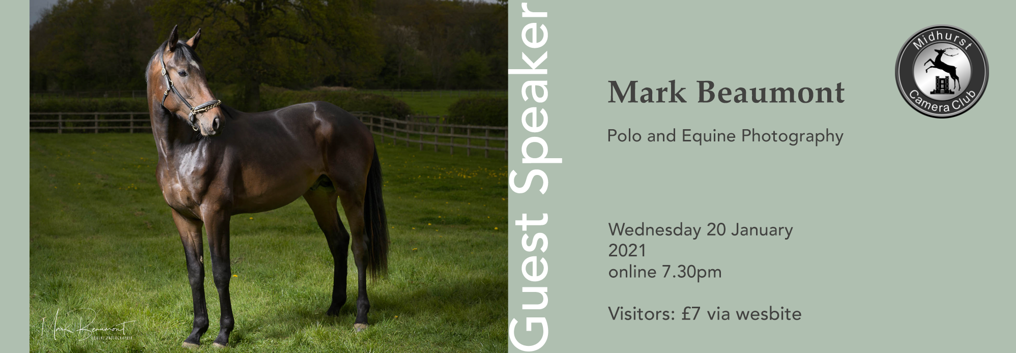 Speaker Evening – Mark Beaumont: Polo and Equine Photography
